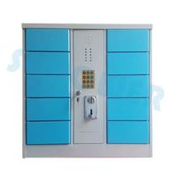 Electronic Digital Lock Coin Operated Multi Phone Charging Station Locker with Voice System