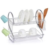 Sunbond S shaped metal chrome dish rack