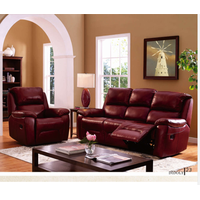American Style Home Theater Genuine Recliner Leather Cinema Sofa. D9115R