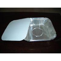 square aluminum foil container