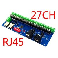 27CH Easy DMX512 decoder with RJ45 connector,27 channel DMX controller,dmx LED drive with RJ45