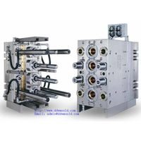 DDW Pneumatic 4 cavity valve gate self-locking PET Jar Injection Mould for Mineral water Packing