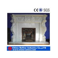 Decorative White Marble Fireplace thumbnail image