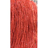 Genuine Mediterranean coral beads, Cube, 2-4mm