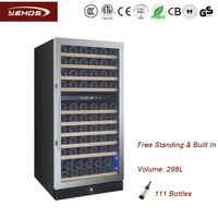 110 bottles compressor wine coolers with SS door frame