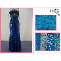 sequn embroidery fabric for evening wear