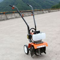 52CC 2-stroke gasoline walking tractor manual push Walking Rotary Cultivator mini tiller