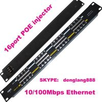 16 Port Passive Power Over Ethernet POE Injector Panel thumbnail image