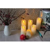 Christmas Decor Flameless Paraffin Wax LED Votive Candle