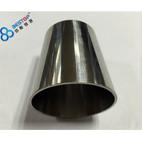 sanitary 304 / 316 mirror polishing stainless steel welded reducer
