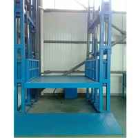 Hot sale 4 post hydraulic guide rail goods elevator
