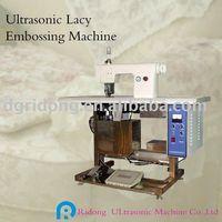 Ultrasonic Lacy Embossing machine