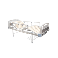 B-SSC-01 Three Cranks Manual Hospital Medical Bed with Locking Casters