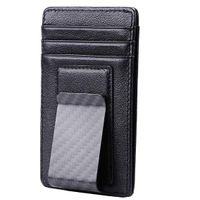 Genuine Leather Magnetic Money Clip Credit Card Case Holder Wallet