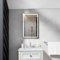Bath LED smart wall mounted frame mirror with bluetooth speaker