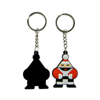 Customzied Fancy designs Soft PVC Rubber 3D Keychain