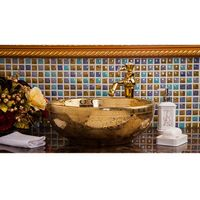 European Style Hotel Classical Bathroom Above Counter Top Washbowl Artistic Ceramic Wash Basin