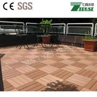 WPC DIY tiles for outdoor garden decoration made in China