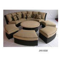 outdoor rattan wicker furniture sofa set