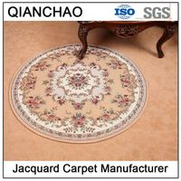 Jacquard Anti slip Home Hotel Washable Round Rugs and Carpets