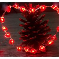 RED heart copper string lights thumbnail image