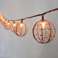 Beaded Copper Wire Ball string light KF01043