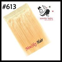 flip in hair extension brazilin remy hair color 613 100g/pc best quality