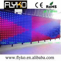 LED customize size led video curtain/led vision curtain