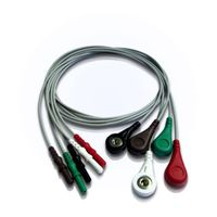 5 lead holter ECG cable and leadwires