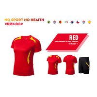 women hot custom short sleeve dry fit football jersey suit