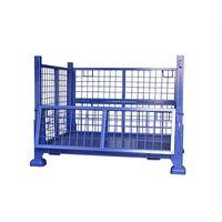 Warehouse Storage Foldable Steel Pallet Box Stillage Wire Mesh Cage thumbnail image