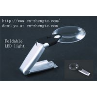 Illuminated Foldable Handheld Magnifier with LED