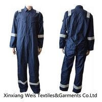 Navy Blue Fr Cotton Coveralls With Reflector Protective Clothing Nfpa 2112