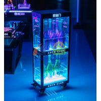 Two Layers Champagne Wine Cabinet Display  LED Champagne Cabinet Display china thumbnail image