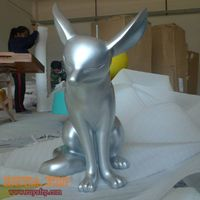 Fiberglass animal craft,fox statue,resin sculpture decoration