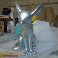 Fiberglass animal craft,fox statue,resin sculpture decoration thumbnail image
