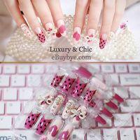 3D Jewelry Nail Art 24PCS Stiletto False Nail with Nail Glue thumbnail image