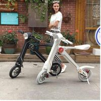 Best Transportation 2 Wheels Folding Electric Hoverboard Brushless Motor Portable Handrail Electric  thumbnail image