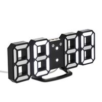 Home Decor Digital 3D LED Wall Watch Desktop LED Light Digit Alarm Clock