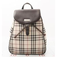 High quality Used designer Brand Rucksack BURBERRY Beige PVC Canvas Backpack Bags for bulk sale.