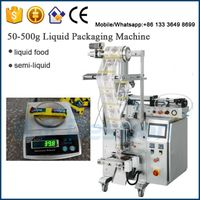 40g ice pop / liquid food / sachet bag packaging machine