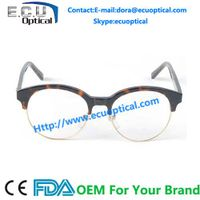 Wenzhou Factory Manufacture Cute Round acetate Unisex eyeglasses Frame