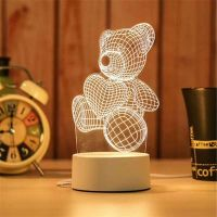 Creative Gift 3D Optical Visual Illusion Acrylic Night Light USB Table Lamp thumbnail image