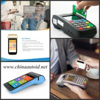 Handheld AUTOID android 5.0 inch touch screen smart pos system device-DJ V60