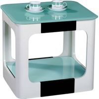 Glass & wood coffee table/GH8405