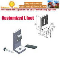 L Feet Hooks for Solar Tin Mounting System