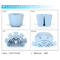 Creative toothrush silicone holder plastic toothbrush holder