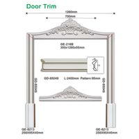 Damp-proof polyurethane interior door frames