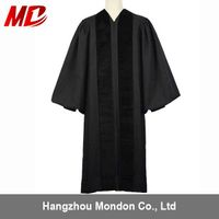 custom high quality priest robes with velvet panels and stripes
