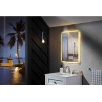 2020 Large Smart Demistable Led Make Up Mirror Light Fog Free Shower Led Mirror Bathroom For Hotel